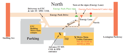 Map to 1380 Energy Lane, Suite 104