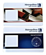 Student ID card issued after Aug. 1 (top) and employee ID card issued after July 23 (bottom).