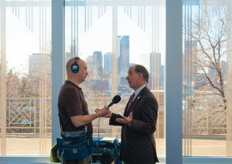 Tim Nelson of Minnesota Public Radio interviews MnDOT Commissioner Charlie Zelle.