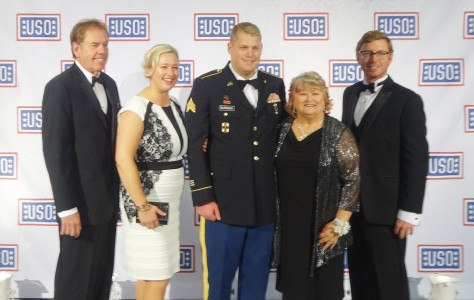 Burdash with his family at the USO Gala, Washington, D.C.