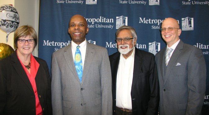 Vance Holmes is 1st recipient of Metro State's Urban Education master's degree