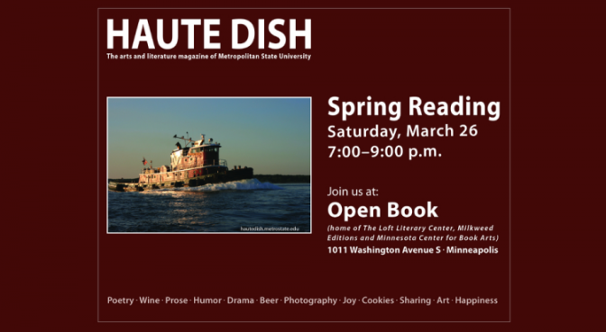 March 26: <em>Haute Dish</em> spring reading