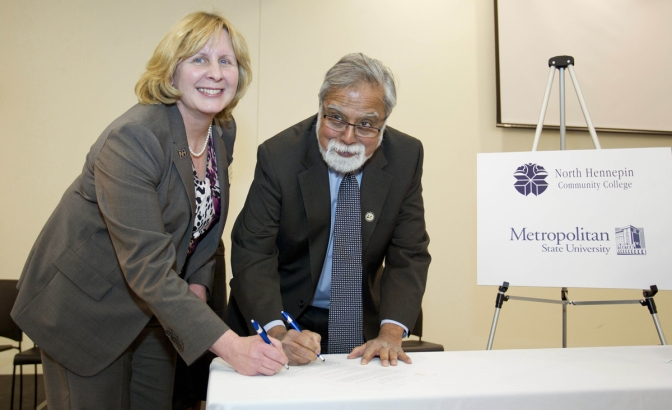 Metropolitan State partnership will extend bachelors degree options to students at North Hennepin Community College
