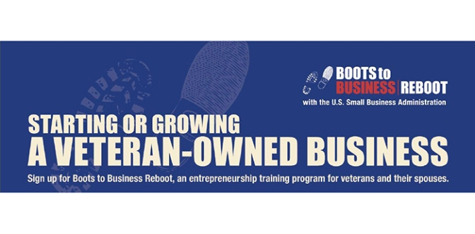 Boots to Business program to help veterans get their start as entrepreneurs