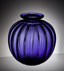 Honn Purple Fluted Vase