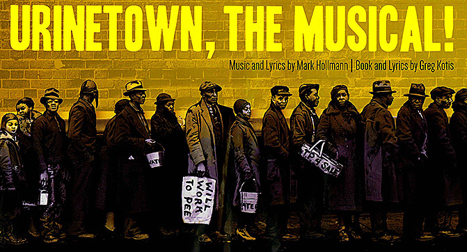 "Nov. 30-Dec. 3: Audition for Theater Underground production of ""Urinetown: The Musical"""