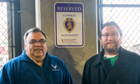 Reserved parking sign goes up for Wounded Warriors
