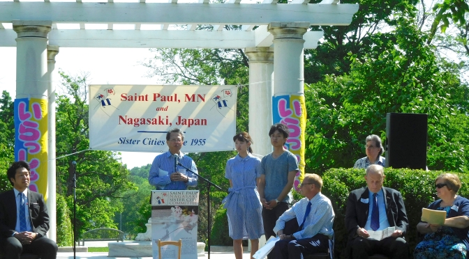 First students in Nagasaki University exchange welcomed to Saint Paul