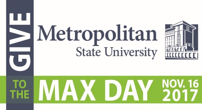 Nov. 16: Give to the Max Day