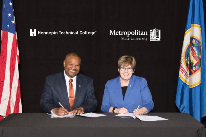 Hennepin Technical College and Metropolitan State University launch partnership