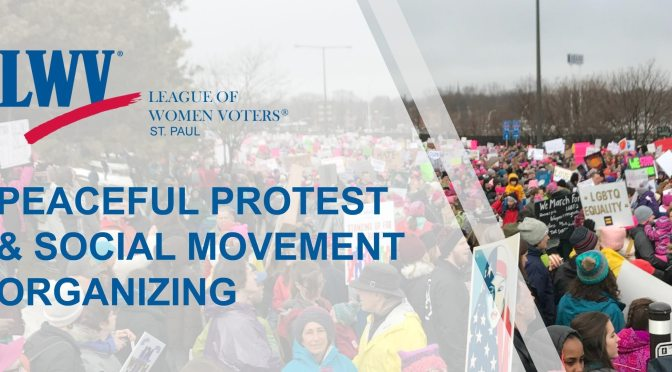 April 19: League of Women Voters of St. Paul; peaceful protest and social movement organizing